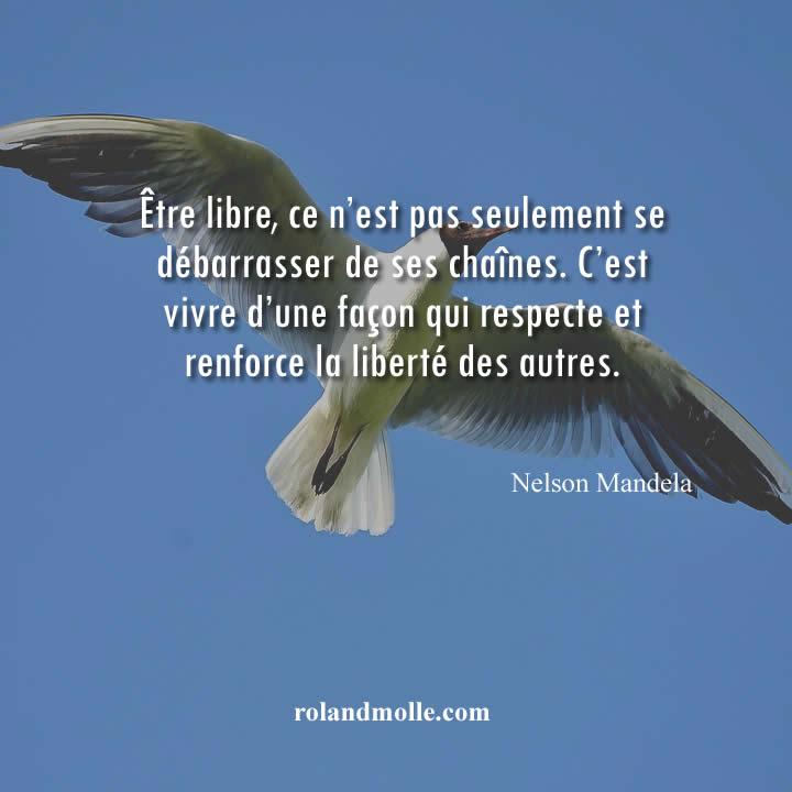 Être libre, ce n'est pas seulement se débarrasser de ses chaînes
